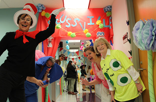 UHC Medical Clinic Green dressed up as Dr. Seuss characters for Halloween