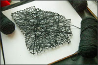 String art created by students in the shape of the state of Georgia
